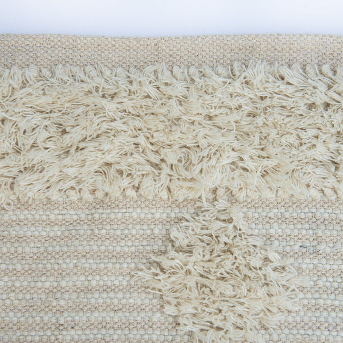 Beige Diamond Stripe Rug-8x10'