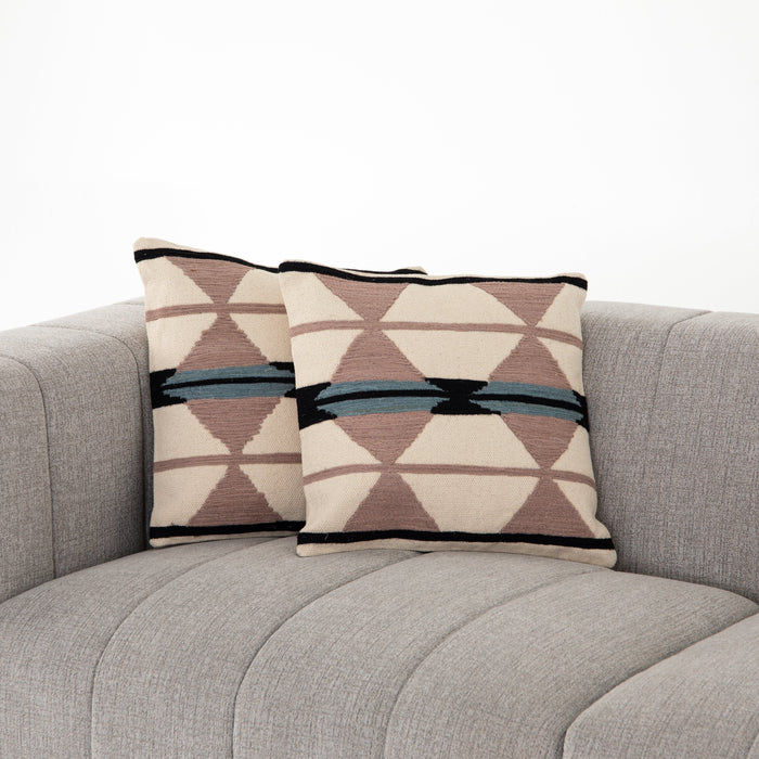 Blush Patterned Pillow, Set Of 2-20""