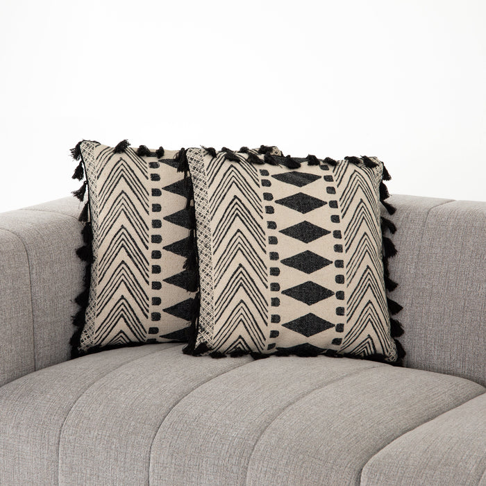 Faded Block Print Pillow, Set Of 2-20""