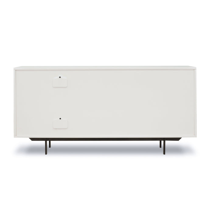 Tucker Console With Sliding Door-White