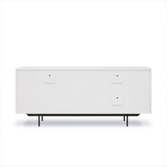 Tucker Two Drawer Media Cabinet-White