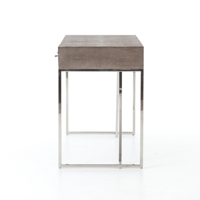 Shagreen Desk-Stainless