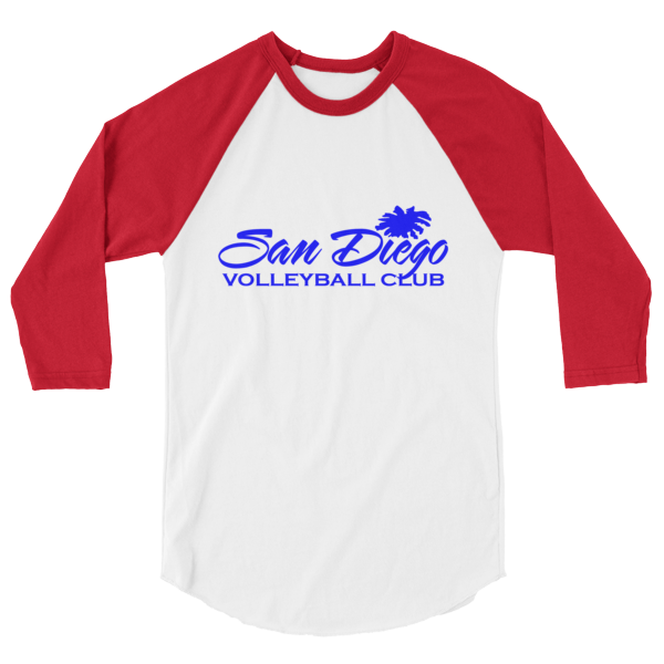 SDVBC 3/4 sleeve raglan shirt (Blue and Red)