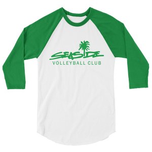 Seaside 3/4 sleeve raglan shirt (Green)