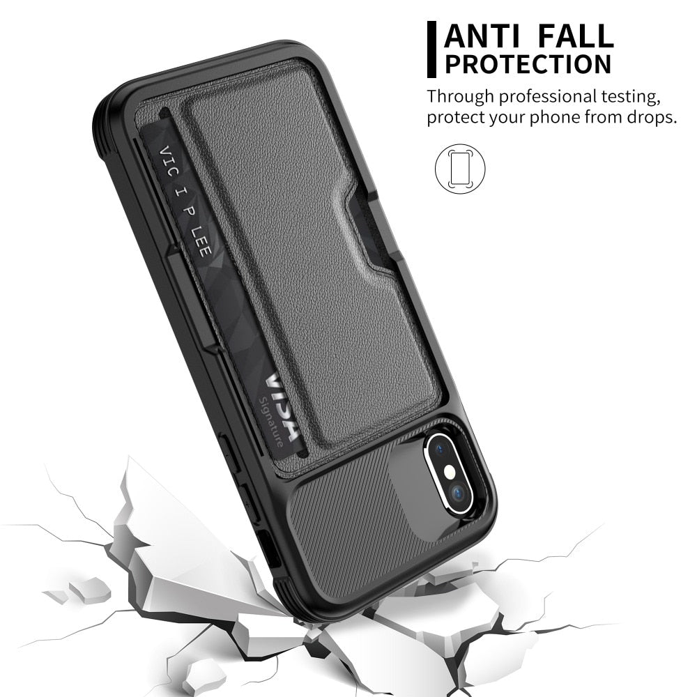 hot sale online 00737 d7afb Soft TPU with Car Magnet and Credit Card Slots Back Cover Case for ...