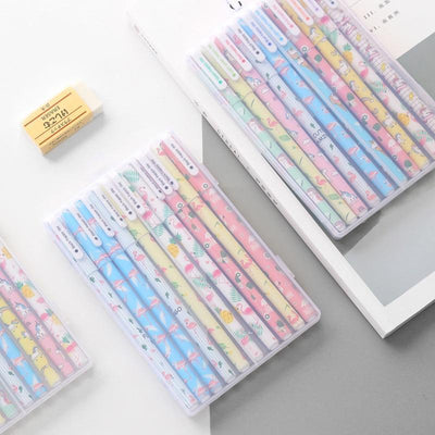 Kawaii meow 10 color pens 10 pcs Cartoon Unicorn & Flamingo Color Gel Pens
