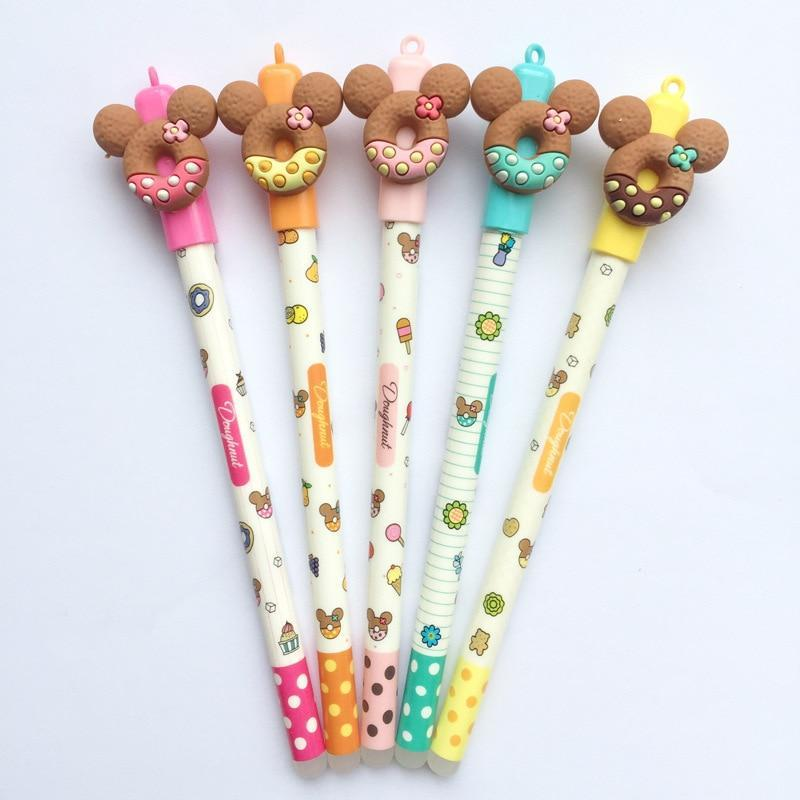 Kawaii meow 5 pcs Cute Bear-Donuts Gel Pens