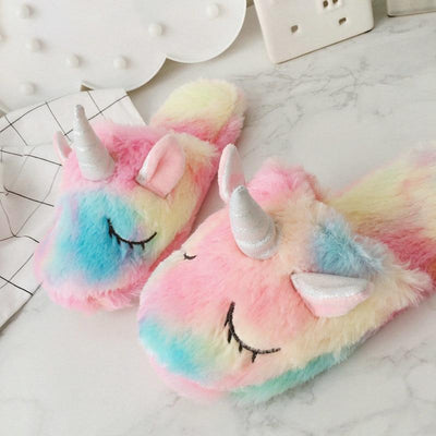 Kawaii meow 6 Colorful Unicorn Plush Shoes