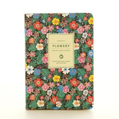 Kawaii meow A5 Blue Floral Planner Notebook