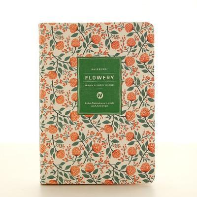 Kawaii meow A5 Green Floral Planner Notebook