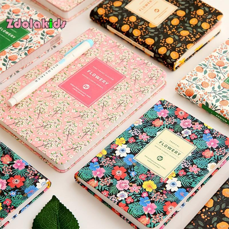 Kawaii meow A6 Black Floral Planner Notebook