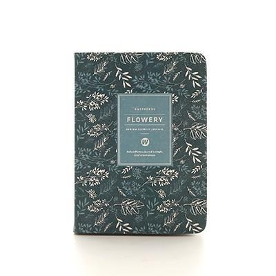 Kawaii meow A6 Dark blue Floral Planner Notebook