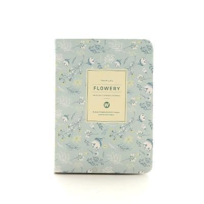 Kawaii meow A6 Light blue Floral Planner Notebook