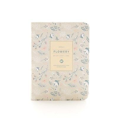 Kawaii meow A6 White Floral Planner Notebook