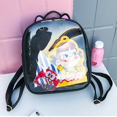 Kawaii meow Black / China / 15 Inches Cat Ear Backpack