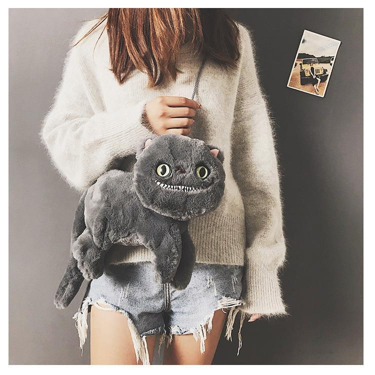 Kawaii meow Black Cute Cartoon Cat Shape Women Messenger Crossbody Bags Brand 3D Animal kitty Shoulder Bags for Teenager Girls Bolsa Feminina Chic