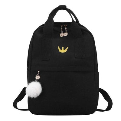 Kawaii meow Black Japan Classic Canvas Backpack