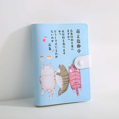 Kawaii meow Blue / 105 x148mm Cute Japanese Notebook