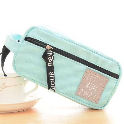 Kawaii meow Blue Canvas Pencil Case