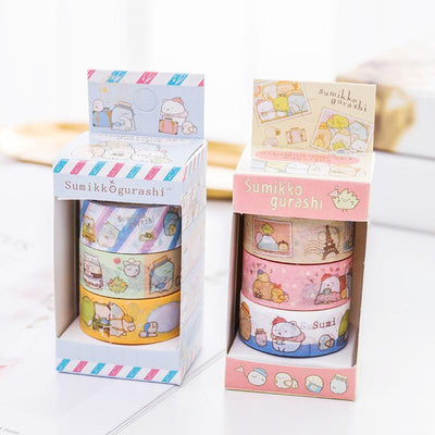 Kawaii meow Blue Cute Decorative Tape