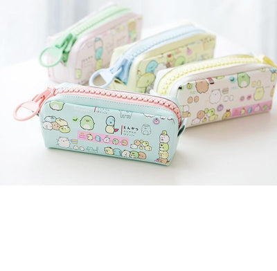 Kawaii meow Blue Kawaii Zipper Pencil Case