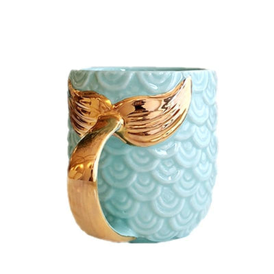 Kawaii meow Blue Pearl Coffee Mug