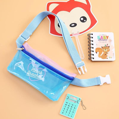 Kawaii meow Blue Women Shoulder Bag
