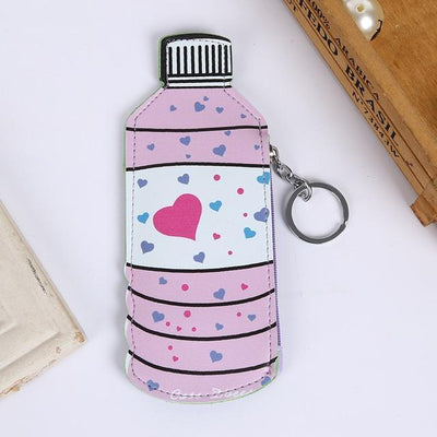 Kawaii meow Bottle Cartoon Purses Holder And Handbag