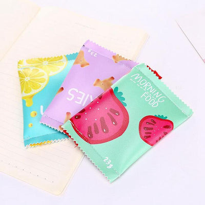 Kawaii meow Brown cookies Candy Snacks Coin Purse