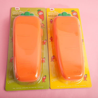Kawaii meow Carrot Pencil Case