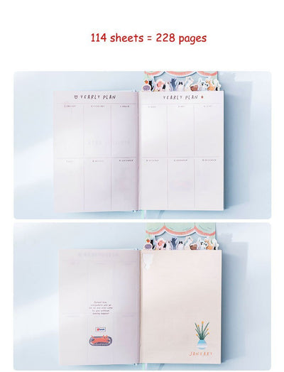 Kawaii meow Cat workplace Cat Personal Diary Planner