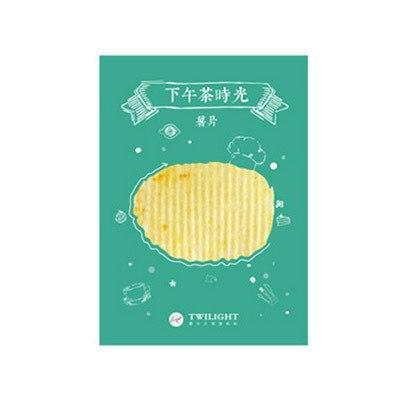 Kawaii meow Chips 4packs Kawaii Food Cartoon Sticky Notes