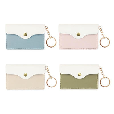 Kawaii meow Creamy white PU Leather Card Holder