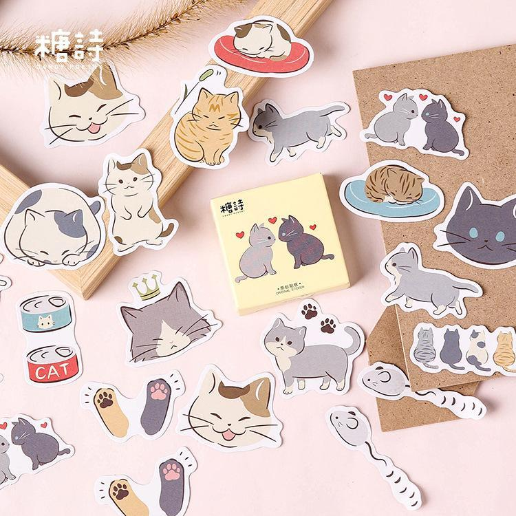 Kawaii meow Cute Lovers Stickers