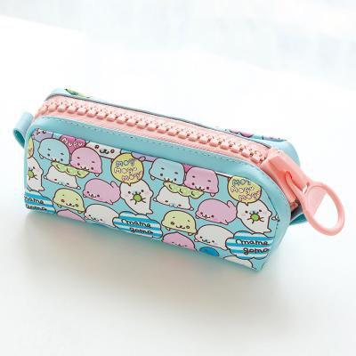 Kawaii meow Dark blue Kawaii Zipper Pencil Case