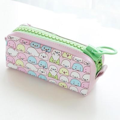 Kawaii meow Dark pink Kawaii Zipper Pencil Case