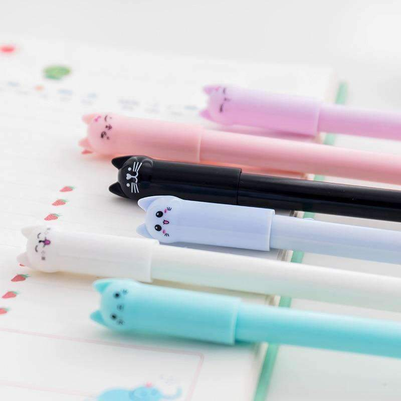 Kawaii meow Deep Blue Little Friends Gel Pen