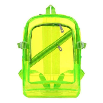 Kawaii meow Fluorescent Green Fashion Hologram Backpack