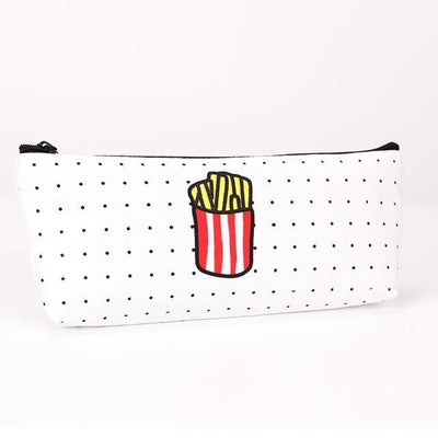 Kawaii meow Fries Cute Food Pencil Bag