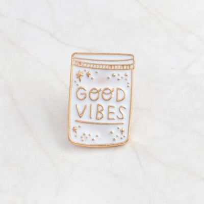 Kawaii meow Good vibes Book Brooches