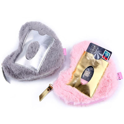 Kawaii meow Gray Cute Heart Bag