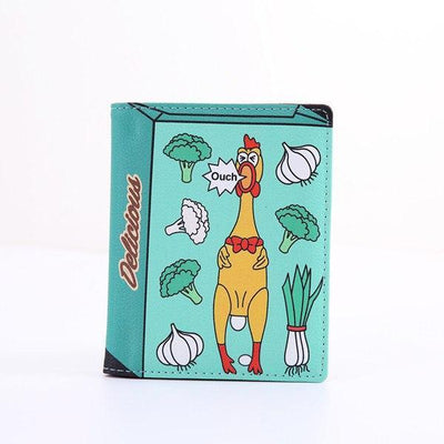 Kawaii meow Green Fashion Cartoon Passport Holder Cover