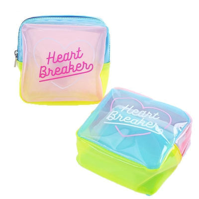 Kawaii meow Green Summer Jelly Cosmetic Bag