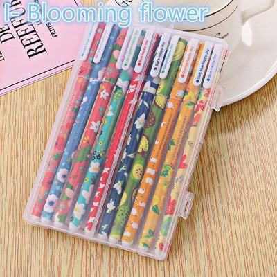 Kawaii meow I-Blooming flower 10 pcs Color Gel Pens