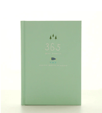 Kawaii meow Light green 365 Days Personal Diary Planner