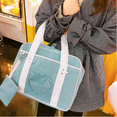 Kawaii meow Light green Cute Travel Bag
