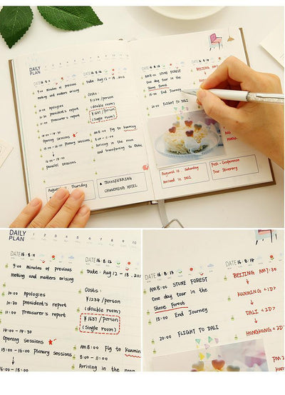 Kawaii meow Light purple 365 Days Personal Diary Planner