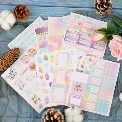 Kawaii meow Lovedoki Beautiful Cloud Sticker Notebook Planner Decorative stickers Bullet Journal Accessories Gift Stationery School Supplies