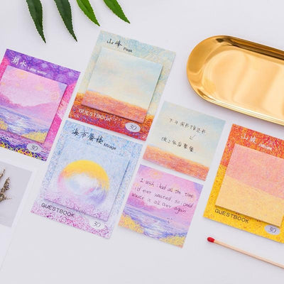 Kawaii meow Mirage Painting Memo Pad Sticky