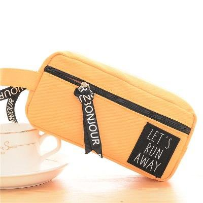Kawaii meow Orange Canvas Pencil Case